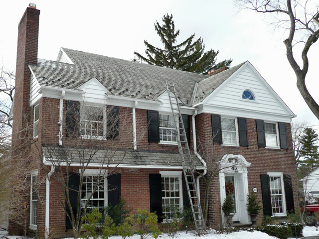 Poor roof design and ice dams